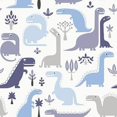 Dino Blue wallpaper by Galerie