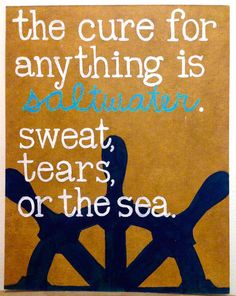 Saltwater Cure Quote & Painting by WindsInTheEast on Etsy
