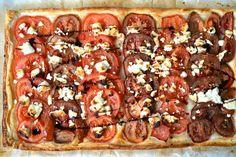 Tomaten-Quiche mit Ziegenkäse