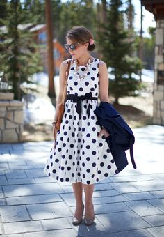 Polka dot dress - polka dot love! Bought that dress at jcrew in 2012 and I absolutely love it
