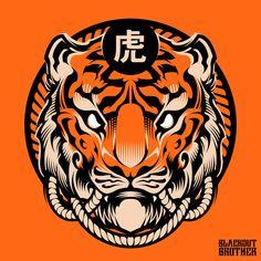 Charles A. on Behance Japanese Pop Art, Japanese Poster, Design Art, Logo Design, Brochure Design, Cover Design, Graphic Design, Tiger Illustration, Afrique Art