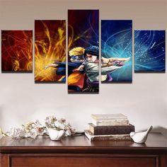 Impressions sur Toile Modulaire Image Moderne Cuadros 5 Panneau Naruto Sasuke Et Itachi Peinture D/écoration Toile Art Cadre Mur pour Le Salon-Pas De Cadre