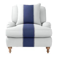 Custom Upholstered Miramar Chair in Designer Fabrics   Serena & Lily    #nursery