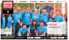 We're on the front page of the @aidswalkSF website! #KloutForGood