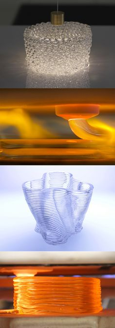 Watch Molten Glass 3D-Printed From a Kiln at 1900 Degrees