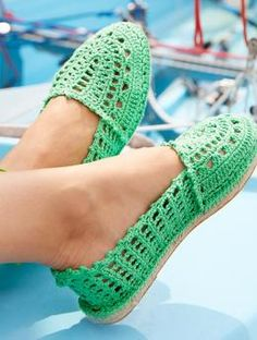 Crocheted Espadrilles, S9017 - Free Pattern