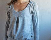Grey Nana Women sweatshirt sweater dress /  Gift for her / Winter fashion