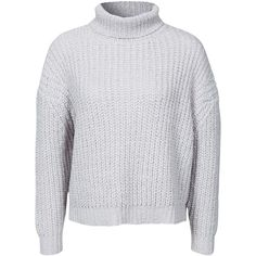 Nly Design Turtleneck Sweater (2,240 PHP) ❤ liked on Polyvore featuring tops, sweaters, jumpers, white, jumpers & cardigans, light gray, womens-fashion, white sweater, turtleneck top and light gray sweater