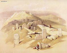 View David Roberts - The Temple Of Gebel Garabe