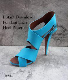 Instant Download Fondant High Heel Pattern PDF Fondant High