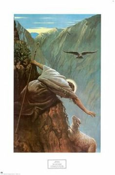 I am the good shepherd, The Good Shepherd giveth his life for the sheep. John Jesus is the Good Shepherd who came to seek and to save that which was lost. I love how hard he is trying to save the lost sheep. Lord Is My Shepherd, The Good Shepherd, Bible Art, Bible Scriptures, Image Jesus, The Lost Sheep, Jesus Christus, Jesus Art, Jesus Pictures
