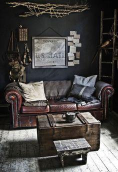 greige blog – Greige Design  Dark charcoal in the powder room??