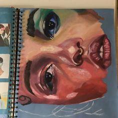 My re-edition of one of Kemi Mai's works A Level Art Sketchbook, Sketchbook Layout, Arte Sketchbook, Sketchbook Inspiration, Art Alevel, Guache, You Draw, Art Portfolio, Portrait Art