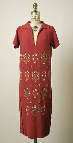 Dress, Afternoon  House of Patou  (French, founded 1919)  Designer: Jean Patou (French, 1887–1936) Date: ca. 1927 Culture: French Medium: silk