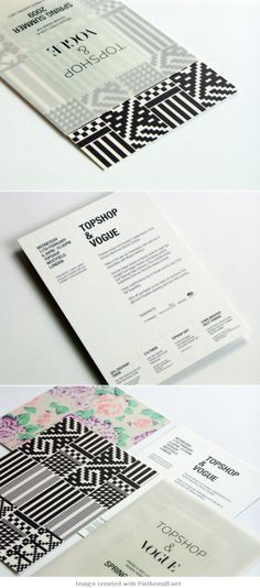 Invites for Topshop and Vogue's SS09 trend previews. Sent out in screen-printed transparent slip covers #print