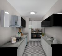 The Contemporary Small Kitchen Design Black and White