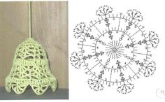 Crochet Christmas Ornaments, Christmas Crochet Patterns, Holiday Crochet, Crochet Doily Patterns, Crochet Snowflakes, Crochet Diagram, Tatting Patterns, Crochet Chart, Christmas Bells