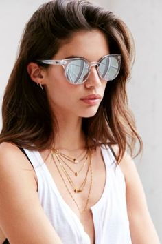 Quay Kosha Sunglasses - Urban Outfitters Also in black Sunnies, Quay Sunglasses, Mirrored Sunglasses, Summer Sunglasses, Girls Sunglasses, Quay Eyewear, Clear Sunglasses, Stylish Sunglasses, Sunglasses Outlet