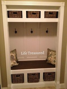 closet turned storage bench #home #decor