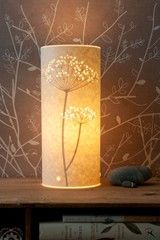 Small Cow Parsley Table Lamp.  Hannah Nunn, Hebden Bridge, UK
