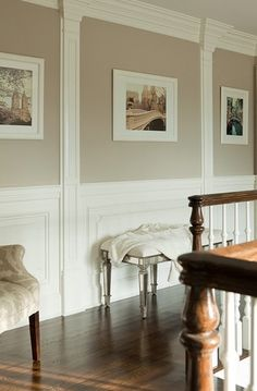 Suzie The Elegant Abode Beautiful Upstairs Hall With Creamy Cafe Au Lait Walls Paint Color Pinning For