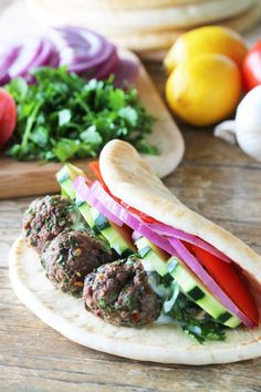 Juicy ground lamb meatballs are drizzled with lemon-garlic sauce and wrapped up with veggies in a pita for a gyro that packs a flavorful punch! Lately I've been heading to the grocery store with no list. This is a big deal for me. I am a total planner. My grocery lists are usually detailed and...