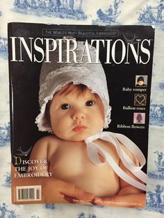 Inspirations Magazine: The World& most beautiful Embroidery Issue 7 Inspirations Magazine, World's Most Beautiful, Crochet Hats, Embroidery, Ebay, Knitting Hats, Needlepoint, Crewel Embroidery, Embroidery Stitches