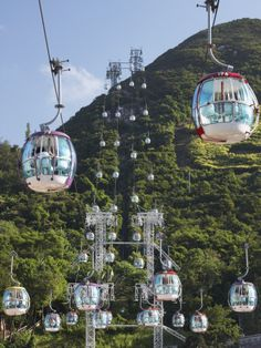 Hong Kong cable cars  #RePin by AT Social Media Marketing - Pinterest Marketing Specialists ATSocialMedia.co.uk
