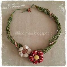 Tutorial: una collana con i ritagli di stoffa http://ilfilodimais.blogspot.it/2016/03/collana-primavera-con-tutorial.html
