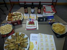 Food at the Wales office party