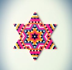 Star hama perler bead design by sara seir