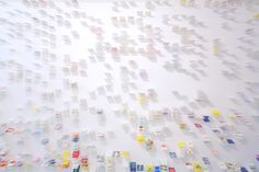 Forest of Business Cards by Moriyuku Ochiai Architects