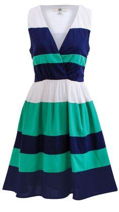 Navy Stripe Boardwalk Dress //