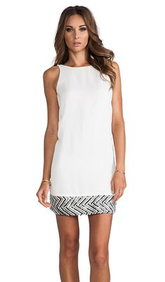 MM Couture by Miss Me Sequin Hem Sleeveless Dress in White | REVOLVE
