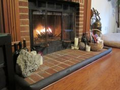 Old Crib Bumper Around Fireplace And Other New Uses For Crib