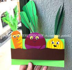 Preschool Arts And Crafts, Paper Crafts For Kids, Diy And Crafts, Vegetable Crafts, National Botanical Gardens, Mothers Day Crafts, Kids Education, Art For Kids, Creative