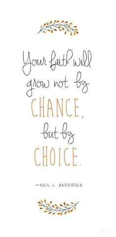 Your faith will grow not by chance, but by choice. Andersen Your faith will grow not by chance, but by choice. Spiritual Thoughts, Spiritual Quotes, Great Quotes, Quotes To Live By, Inspire Quotes, Uplifting Quotes, Inspirational Quotes, Was Ist Pinterest, Journaling