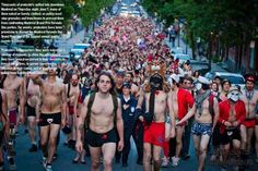 Montreal Protesters Naked and Transparent