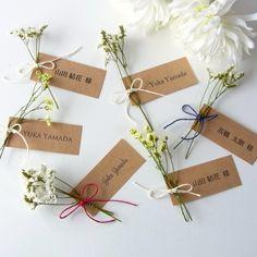 ドライフラワーのナチュラルシンプル席札【フォント選べます】 Wedding Images, Wedding Designs, Wedding Invitation Cards, Wedding Cards, Wedding Table, Fall Wedding, Cake Boxes Packaging, Wedding Place Settings, Romantic Dinners