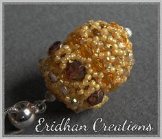 "Beaded bead ""Acorn"" - tutorial         October 27, 2015 at 11:57AM"