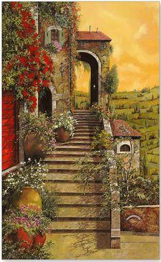 Итальянские пейзажи от GUIDO BORELLI. от EIVA26.... Обсуждение на LiveInternet - Российский Сервис Онлайн-Дневников