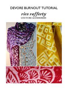 DIY - Design your own Devore Burnout Velvet - great for making scarves or costumes