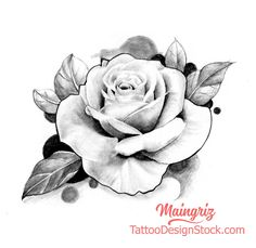 Rose Tattoo Stencil, Rose Drawing Tattoo, Rose Stencil, Tattoo Design Drawings, Chicano, Realistic Rose Drawing, Black And Grey Rose Tattoo, Meaningful Drawings, Le Tattoo