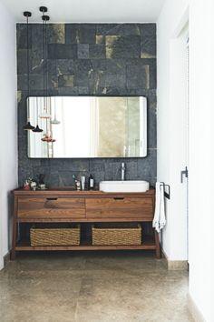 Bathroom | Stone | Wood | Organic | White | Modern | Livingetc