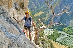 For the whole family! Via ferrata in Le Caire, France. Photo by Alpes de Haute Provence