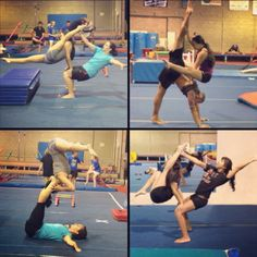 I wanna do the top left corner Gymnastics Tricks, Gymnastics Poses, Acrobatic Gymnastics, Gymnastics Workout, Olympic Gymnastics, Gymnastics Problems, Gymnastics Photography, Olympic Games, Couples Yoga Poses