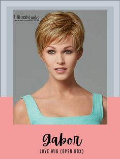 Love Wig by Gabor Essentials... You will love this short, classic cut with smooth layers on the top and sides that blend with barely waved layers in the back. #hairstyles #hairdo #hairoftheday #styleinspo #styles #styleoftheday Gabor Wigs, Short Cuts, Layers, Essentials, Smooth, Hairstyles, Love, Classic, Pixie Cuts