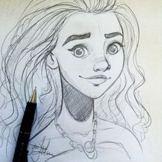 Yenthe Joline Art • #moana sketch. So looking forward to this movie!...