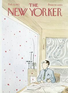 The New Yorker - Saturday, February 12, 1972 - Issue # 2452 - Vol. 47 - N° 52 - Cover by : James Stevenson