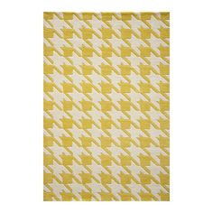 Houndstooth Rug 5x8 Yellow, $299, now featured on Fab.